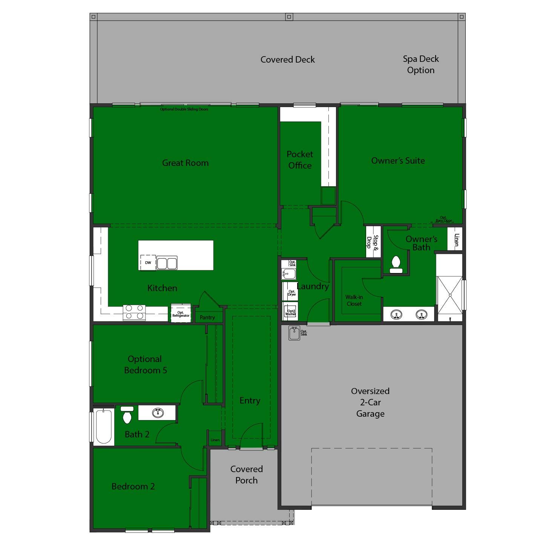 Sierra Oaks 2070 - Bedroom 5 option